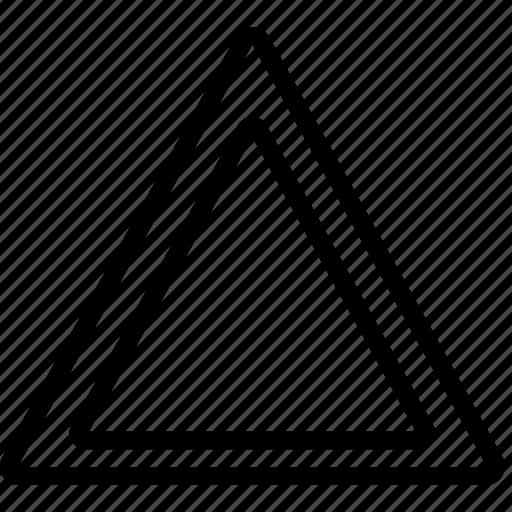 mark, road, triangle icon