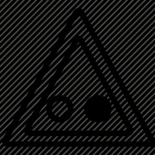 circles, mark, road, triangle icon
