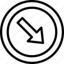 arrow, circle, mark, road