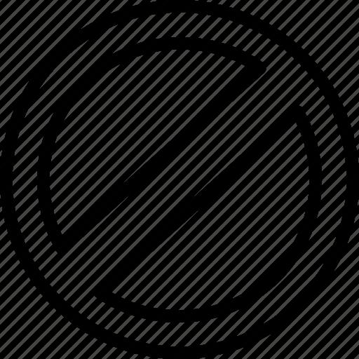 access, denied, mark, no, not icon