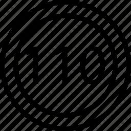 circle, limit, mark, road, speed icon