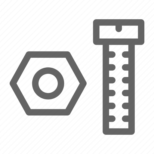 bolt, metallic, nut, screw icon