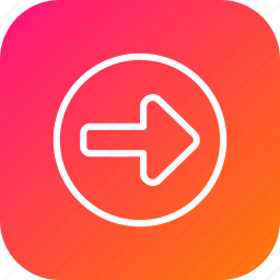 arrow, direction, indication, right, rules, safety, turn icon