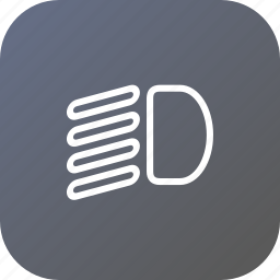 beam, car, headlight, light, low, side icon