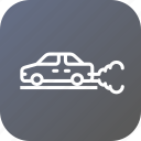 auto, automobile, car, carezhaust, environment, pollution icon