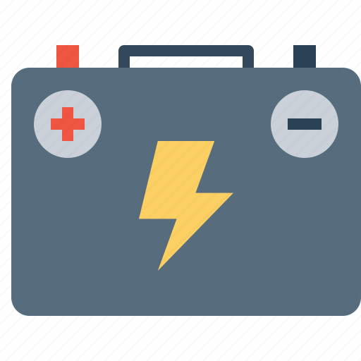 battery, car, jumper, starter, transportation, vehicle icon