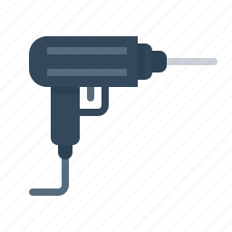 construction, dig, drill, drilling, machine, tool icon