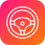 automative, car, control, power, steyring, tool, wheel icon
