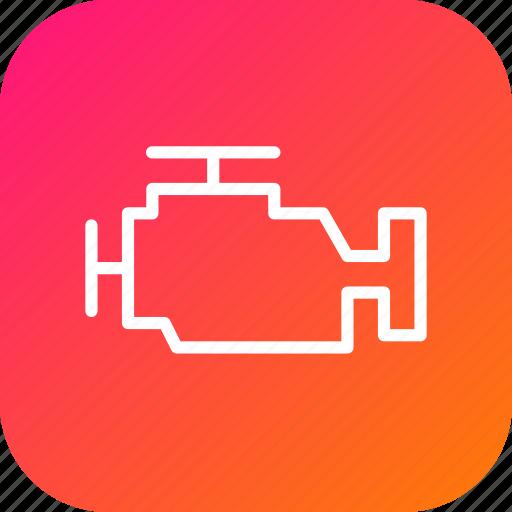 car, diesel, engine, gasoline, motor, mover, service icon