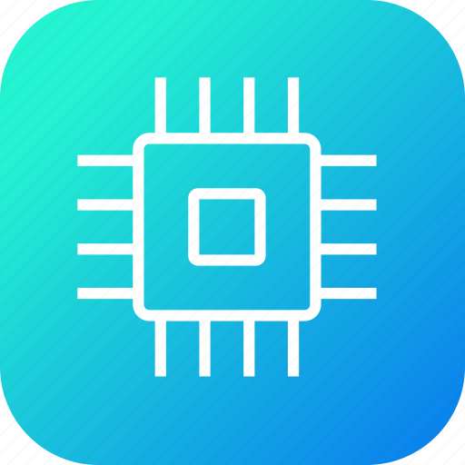 chip, components, computer, cpu, electronics, hardware, processor icon
