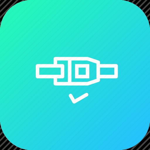 belt, car, lock, safety, seat, service icon