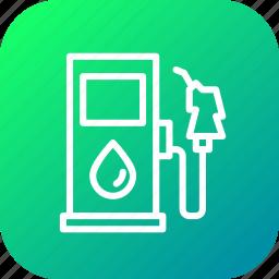 fuel, gas, gasoline, petrol, pump, service, station icon