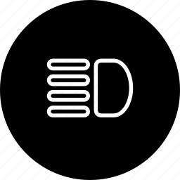 beam, headlight, light, main, warning icon