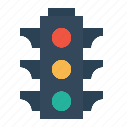 control, green, light, red, signal, traffic, yellow icon