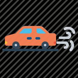 automobile, car, carezhaust, ecofriendly, environment, non, pollution icon