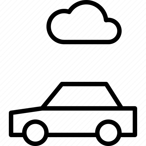 automobile, car, cloud, data, internet, storage, vehicle icon