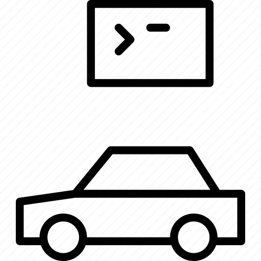 automobile, car, code, program, software, vehicle icon