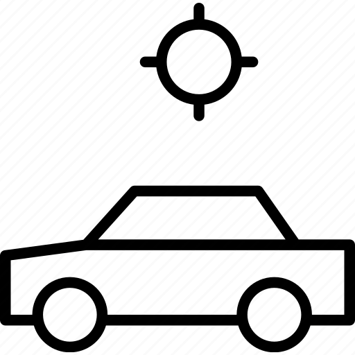automobile, car, locating, map, position, vehicle icon