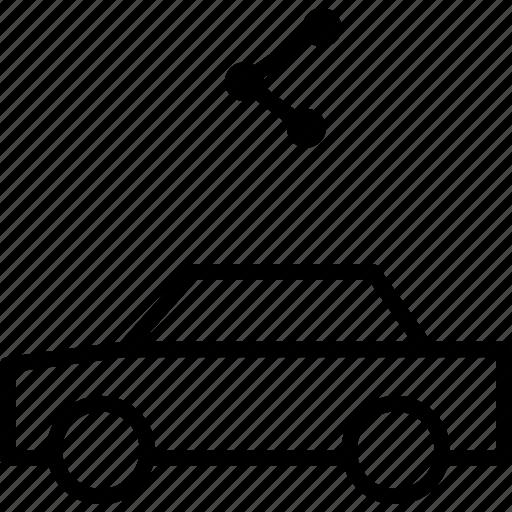 automobile, car, media, share, social, vehicle icon