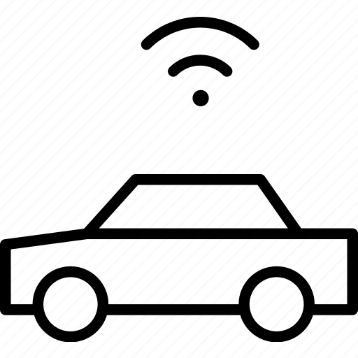automobile, car, connection, signal, vehicle, wifi icon