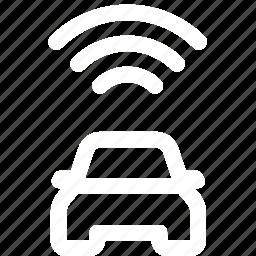 car, keyless, remote, signal, start icon