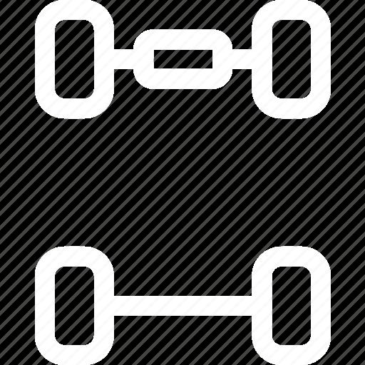 car, drive, front wheel drive, fwd, suspension icon