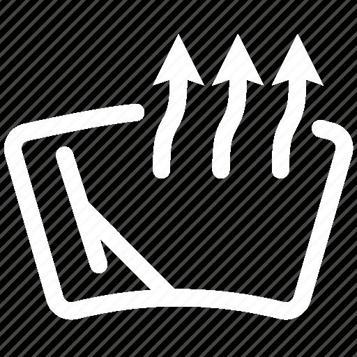 car, heat, heated, window, windshield icon