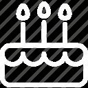 birthday, born, cake, cheer, happy, year icon