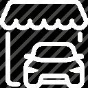 car shop, dealership, market, shop, store icon