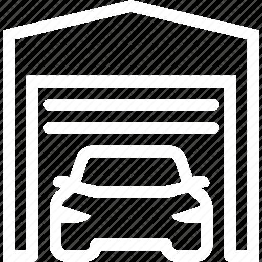 car, garage, home, service, storage icon