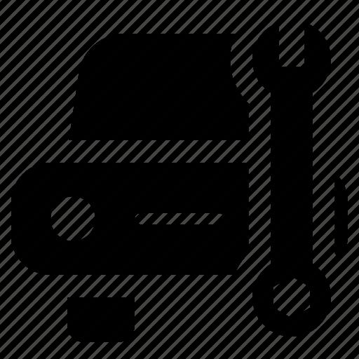 automobile, craft, garage, servicing, vehicle, workshop icon