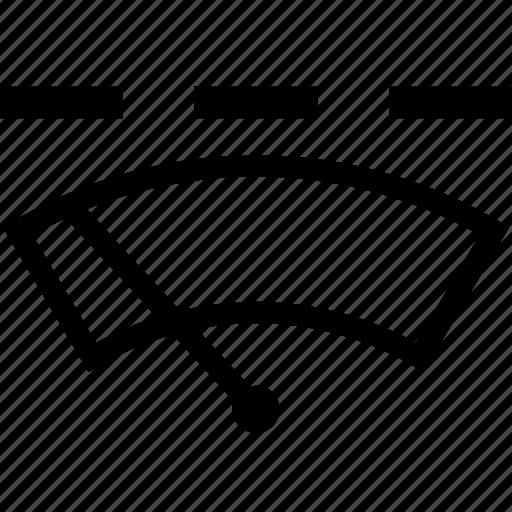 auto, intermittent, windscreen, windshield, wiper icon