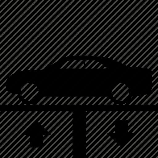 automotive, car, lift, lower, raise icon