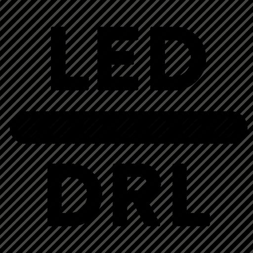 automotive, driver reversing light, drl, led, light, reverse, reversing icon