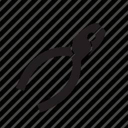 automotive, nose, pliers, small, snub icon