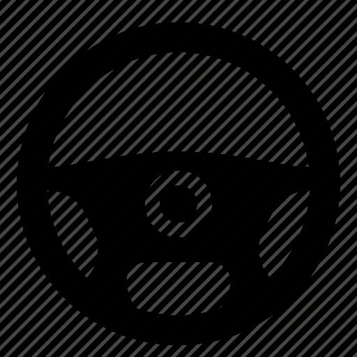automotive, driver, steering, wheel icon