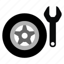 automotive, change, kit, repair, tire, wheel icon