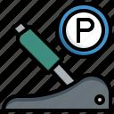handbrake, parking, brake, construction, tools, transportation, automobile