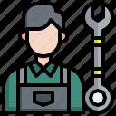 mechanic, maintenance, repair, spanner, adjustable, wrench