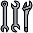 wrench, silhouette, tool, repair, service