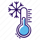 cold temperate, freezing temperature, temperature, winter climate, winter season icon