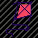 fly kiting, kite, kite flying, kite game, kiting, wind kite icon