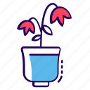 botanical plant, garden plant, natural plant, plant wilting, wilting icon