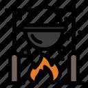 autumn, caldron, cooking, food, picnic