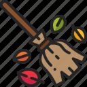 tool, cleaning, broom, equipment, sweep, leaf
