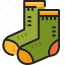 clothing, socks, fashion, footware, foot, clothes, garment icon