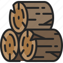 log, timber, wood, firewood, tree, nature