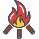 autumn, bonfire, campfire, camping, fall, fire, warm icon
