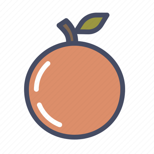 autumn, food, fruit, healthy, orange, peach, spring icon