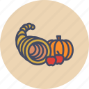 autumn, cornucopia, food, fruits, harvest, plenty, thanksgiving
